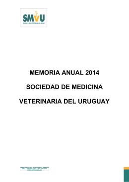 Memoria 2014 - Sociedad de Medicina Veterinaria del Uruguay