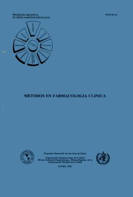 MÉTODOS EN FARMACOLOGIA CLINICA