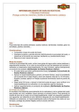IMPERMEABILIZANTE DE SUELOS RÚSTICOS Y