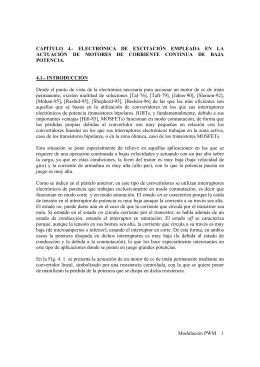 Modulación PWM 1 CAPÍTULO 4.- ELECTRÓNICA DE EXCITACIÓN
