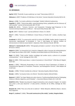 References - Foro Virtual de Investigacion en ESCNNA e Infancias