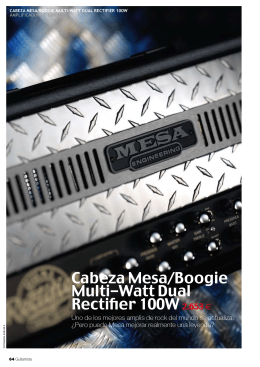 Cabeza Mesa/Boogie Multi-Watt Dual Rectifier 100W