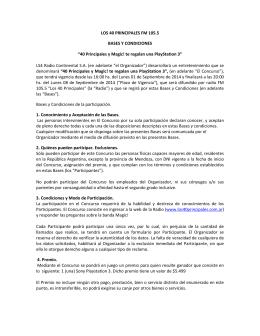 """LOS 40 PRINCIPALES FM 105.5 BASES Y CONDICIONES """"40"""