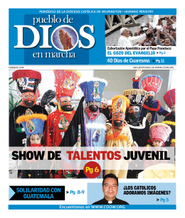 ShOw DE TALENTOSJUVENIL - Catholic Diocese of Wilmington