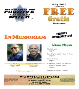 May 2010 - Fugitive Watch