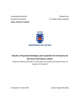 Estudio y Propuesta Estratégica para expansión de la Empresa de