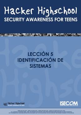 HHS - Lección 5 - Identificación de Sistemas