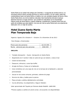 Hotel Zuana Santa Marta Plan Temporada Baja