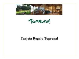 ¿Qué es la Tarjeta Regalo de Toprural?