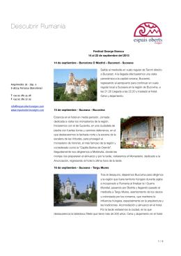 Descubrir Rumanía
