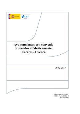 Cáceres - Cuenca - Dirección General de Tráfico