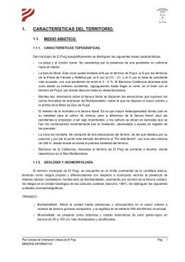 1. CARACTERÍSTICAS DEL TERRITORIO.