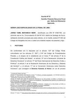 querella - Congreso de la República del Perú