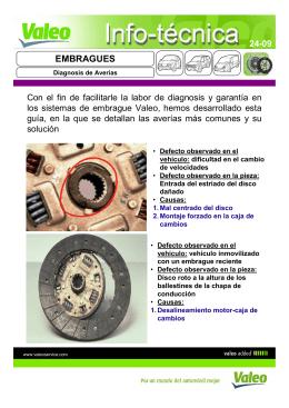 Valeo Info Técnica 24-09 - EMBRAGUES