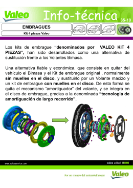 Valeo Info Técnica 35-10 - Kit 4 piezas [Modo de