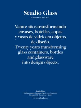 Catálogo STUDIO GLASS