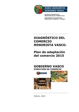 DIAGNÓSTICO DEL COMERCIO MINORISTA VASCO. Plan