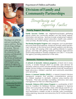 Strengthening and Supporting Families
