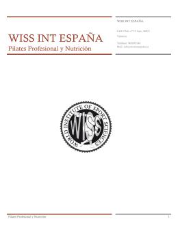 Ver temario - Wiss Int España