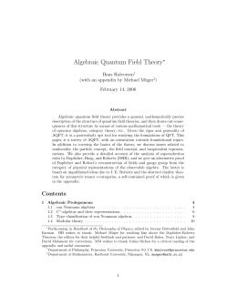 Algebraic Quantum Field Theory - PhilSci-Archive