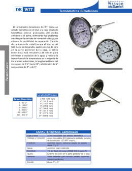 Termómetros Bimetálicos
