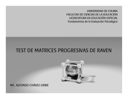 TEST DE MATRICES PROGRESIVAS DE RAVEN