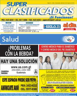Siglo.21 - al día - Guatemala, miércoles 22 de agosto de 2012