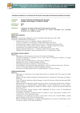 Curso Tratamiento de disfunciones de suelo pélvico en Fisioterapia