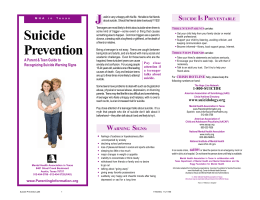 Suicide Prevention.p65 - Texas Suicide Prevention