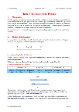 Tema 7 Sistema Métrico Decimal