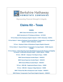 TX Claims Kits Cover Page.docx - Berkshire Hathaway Homestate