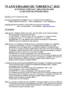 """75 ANIVERSARIO DE """"OBERENA"""" 2015"""