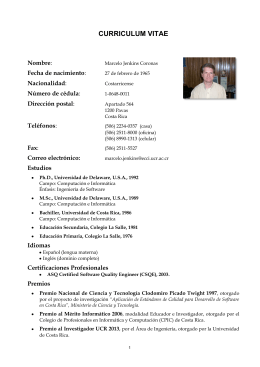 CURRICULUM VITAE - Universidad de Costa Rica