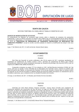 XUNTA DE GALICIA AYUNTAMIENTOS