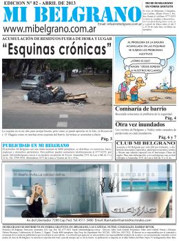 """""""Esquinas crónicas"""""""