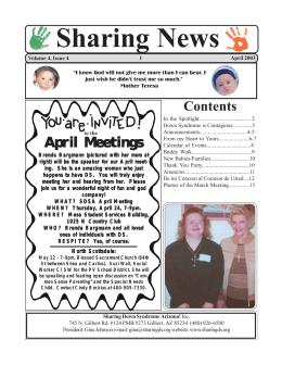 April Meetings - Sharing Down Syndrome Arizona