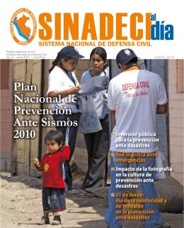 Plan Nacional de Prevención Ante Sismos 2010