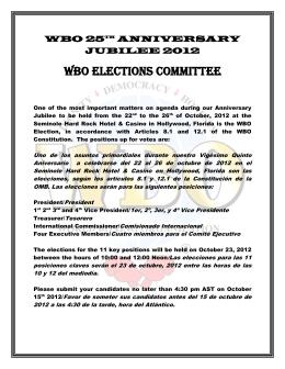 wbo 25th anniversary jubilee 2012