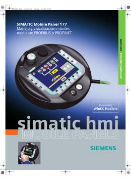 SIMATIC Mobile Panel 177 Manejo y visualización móviles