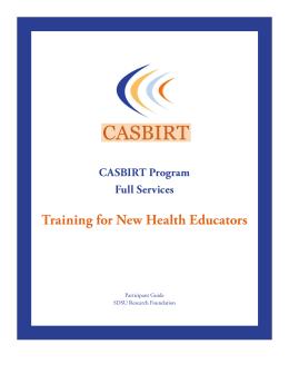 Health Educator Training Manual