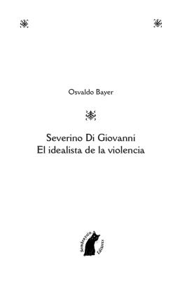 S Severino Di Giovanni El idealista de la violencia