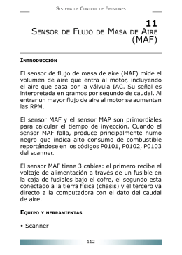 Sensor de flujo de masa de aire (MAF)