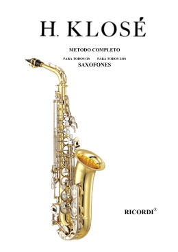 Klose Metodo completo para saxo