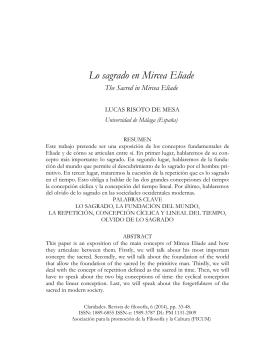 Lo sagrado en Mircea Eliade