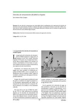 Derechos de retransmisión del fútbol en España