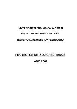Crdoba, 21 de agosto de 1996 - Universidad Tecnológica Nacional