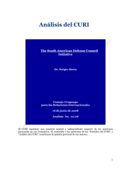 Análisis del CURI - Universidad ORT Uruguay