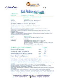 PF San Andres 5dias.. - Peruvian Universal Groups