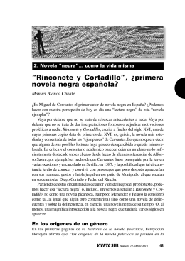 """Rinconete y Cortadillo"", ¿primera novela negra"