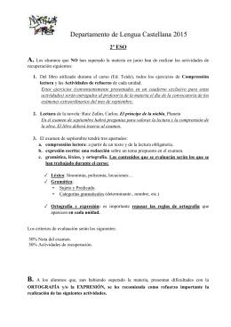Departamento de Lengua Castellana 2015